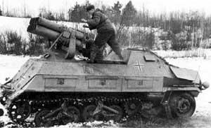 Самоходная пусковая установка 15 cm Panzerwerfer 42