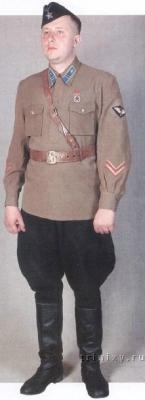 Знаки различия званий военнослужащих Красной Армии 1940-42гг.