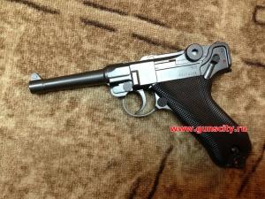 Пневматическая копия легендарного немецкого пистолета Люгер Парабеллум.