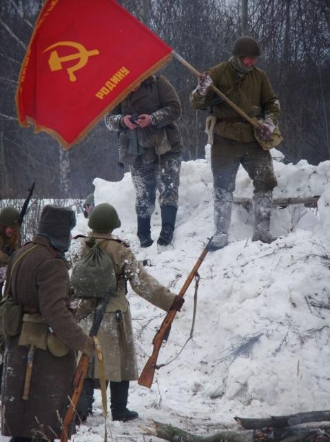 Военно-историческая реконструкция, посвящённая 70-летию Победы в Великой Отечественной войне.