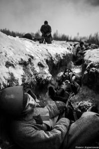 В Ступинском районе прошла реконструкция боя «Подвиг героев-панфиловцев», посвященная 75-летию битвы под Москвой